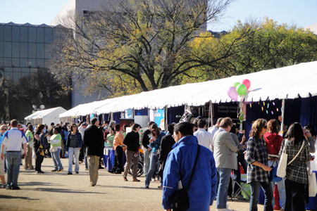 Exhibits line the National Mall at the USA Science & Engineering Festival.