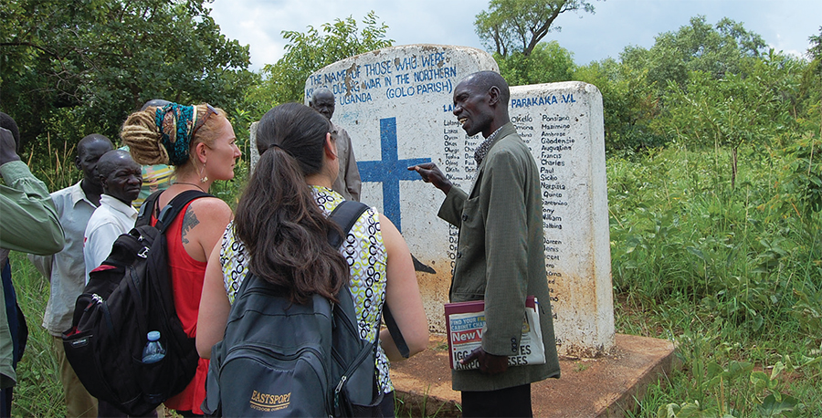 Tricia Hepner in Uganda, Africa