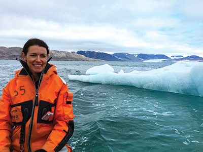Karen Lloyd in the Artic