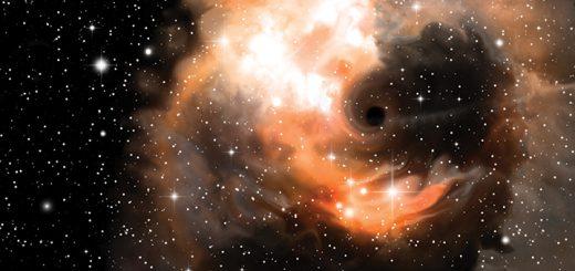Black hole and nebula
