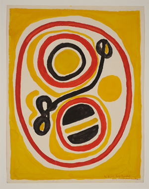 Yellow, Red, and Black Circles for James Baldwin (Istanbul), 1966